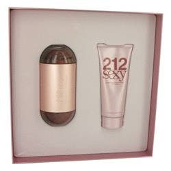 212 Sexy by Carolina Herrera Gift Set -- 3.4 oz Eau De Parfum Spray + 3.4 oz Body Lotion for Women
