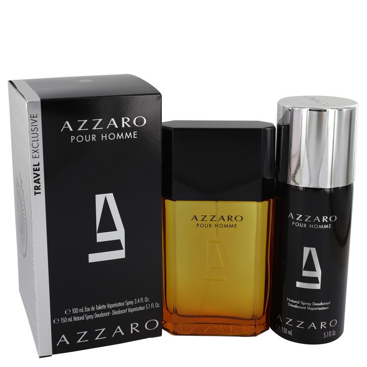 AZZARO by Loris Azzaro Gift Set -- 3.4 oz Eau De Toilette Spray + 5.1 oz Deodorant Spray for Men