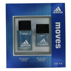 Adidas Moves by Adidas Gift Set -- 1 oz Eau De Toilette Spray + .5 oz Eau De Toilette Spray for Men