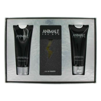 ANIMALE by Animale Gift Set -- 3.3 oz Eau De Toilette Spray + 3.4 oz After Shave Balm + 3.4 oz Body Wash for Men