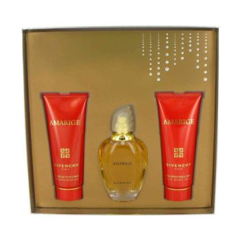 AMARIGE by Givenchy Gift Set -- 1.7 oz au De Toilette Spray + 2.5 oz Body Lotion + 2.5 oz Bath Gel for Women