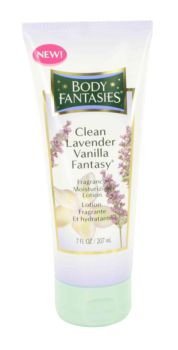 Body Fantasies Clean Lavender Vanilla Fantasy by Parfums De Coeur Body Lotion 7 oz for Women