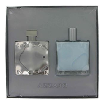 Chrome by Loris Azzaro Gift Set -- 3.4 oz Eau De Toilette Spray (Chromotized Edition) + 3.4 oz After Shave Balm for Men