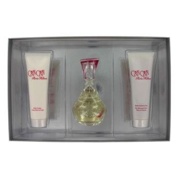 Can Can by Paris Hilton Gift Set -- 3.4 oz Eau De Parfum Spray + 3 oz Body Lotion + 3 oz Shower Gel for Women