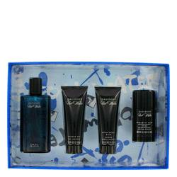 COOL WATER by Davidoff Gift Set -- 4.2 oz Eau De Toilette Spray + 2.5 oz After Shave Balm + 2.5 oz Shower Gel + 2.4 oz Deodorant Stick for Men