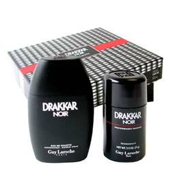 DRAKKAR NOIR by Guy Laroche Gift Set -- 3.4 oz Eau De Toilette Spray + 2.5 oz Deodorant Stick for Men