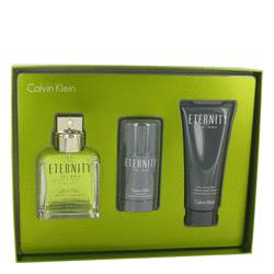 ETERNITY by Calvin Klein Gift Set -- 3.4 oz Eau De Toilette Spray + 2.6 oz Deodorant Stick + 3.4 oz After Shave Balm for Men