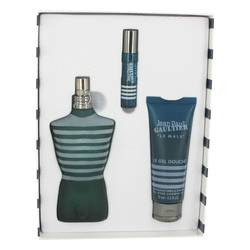 JEAN PAUL GAULTIER by Jean Paul Gaultier Gift Set -- 4.2 oz Eau De Toilette Spray + 0.3 oz Mini EDT + 2.5 oz Shower Gel for Men