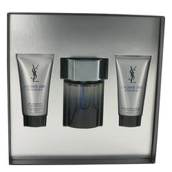 L'homme Libre by Yves Saint Laurent Gift Set -- 3.3 oz Eau De Toilette Spray + 1.6 oz After Shave Gel + 1.6 oz Shower Gel for Men