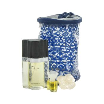 OSCAR by Oscar de la Renta Gift Set -- 1.6 oz Eau De Toilette Spray + .13 oz Mini EDT + .7 oz Soap + Bag for Women