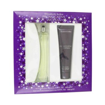 Provocative by Elizabeth Arden Gift Set -- 3.3 oz Eau De Parfum Spray + 3.3 oz Body Lotion for Women