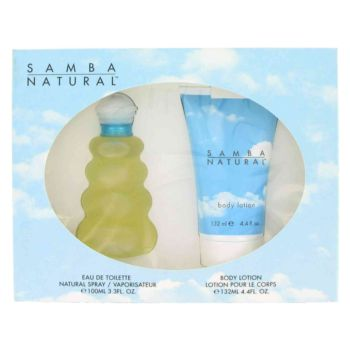 SAMBA NATURAL by Perfumers Workshop Gift Set -- 3.4 oz Eau De Toilette Spray + 4.4 Body Lotion for Women