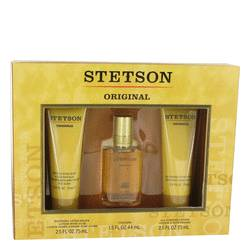 STETSON by Coty Gift Set -- 1.5 oz Cologne + 2.5 oz After Shave Lotion + 2.5 oz All Purpose Lotion for Men
