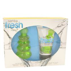 Samba Fresh by Perfumers Workshop Gift Set -- 3.4 oz Eau De Toilette Spray + 4.4 oz Body Lotion for Men