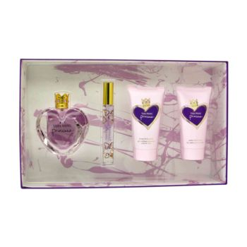 Princess by Vera Wang Gift Set -- 1.7 oz Eau De Toilette Spray + 2.5 oz  Body Lotion + 2.5 oz Body Polish + .2 oz Mini Roller EDT for Women
