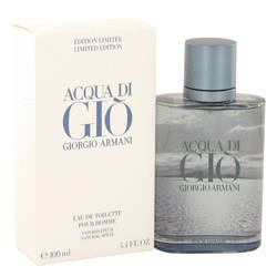 Acqua Di Gio Blue Edition by Giorgio Armani Eau De Toilette Spray (Limited Edition) 3.4 oz for Men