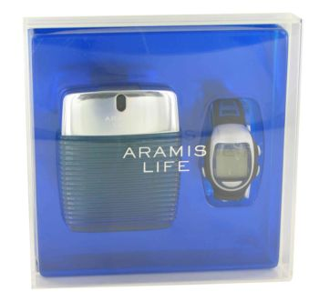 Aramis Life by Aramis Gift Set -- 3.4 oz Eau De Toilette Spray + Free Watch for Men