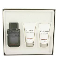 Attimo by Salvatore Ferragamo Gift Set -- 3.4 oz Eau De Toilette Spray + 1.7 oz Shower Gel +1.7 oz After Shave Balm for Men