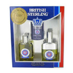 BRITISH STERLING by Dana Gift Set -- 2.5 oz Cologne Spray + 2 oz Cologne + 3 oz Deodorant Stick for Men