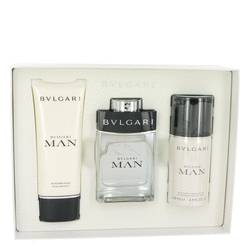 Bvlgari Man by Bvlgari Gift Set -- 3.4 oz Eau De Toilette Spray + 3.4 oz After Shave Balm + 3.4 oz Deodorant Spray for Men