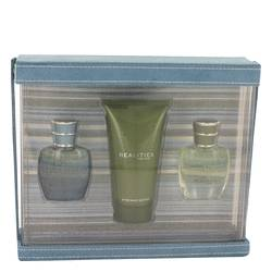 REALITIES by Liz Claiborne Gift Set -- 0.5 oz Realities Cologne Spray +0.5 oz Graphite Blue + 2.5 oz Realities After Shave Soother for Men