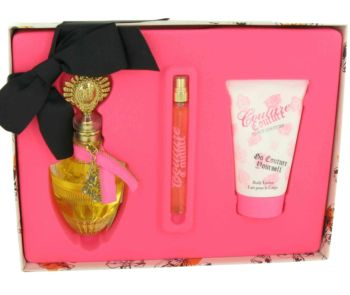 Couture Couture by Juicy Couture Gift Set -- 3.4 oz Eau De Parfum Spray + 4.2 oz Body Lotion + .33 oz EDP Spray for Women