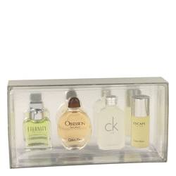 ETERNITY by Calvin Klein Gift Set -- Mini Variety Gift Set Includes Eternity, Obsession, Ck One, Escape, All are 1/2 oz Pours for Men