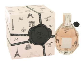Flowerbomb De Paris by Victor & Rolf Eau De Parfum Spray (Limited Edition) 3.4 oz for Women