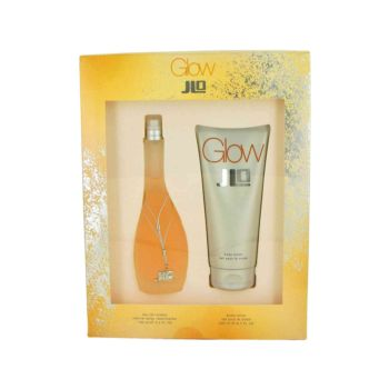 Glow by Jennifer Lopez Gift Set -- 3.4 oz Eau De Toilette Spray + 6.7 oz Body Lotion for Women
