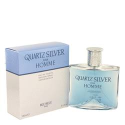 Quartz Silver by Molyneux Eau De Toilette Spray 3.4 oz for Men