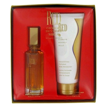 RED by Giorgio Beverly Hills Gift Set -- 1.6 oz Eau De Toilette Spray + 6.7 oz Body Lotion for Women