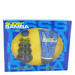 Samba Super by Perfumers Workshop Gift Set -- 3.4 oz Eau De Toilette Spray + 4.4 oz Shower Gel for Men
