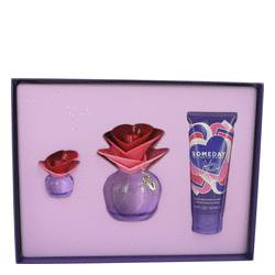 Someday by Justin Bieber Gift Set -- 3.4 oz Eau De Parfum Spray + 3.4 oz Body Lotion + .25 oz Mini EDP for Women