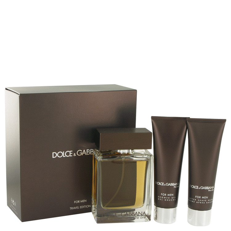 The One by Dolce & Gabbana Gift Set -- 3.4 oz Eau De Toilette Spray + 1.7 oz Shower Gel + 1.7 oz After Shave Balm for Men