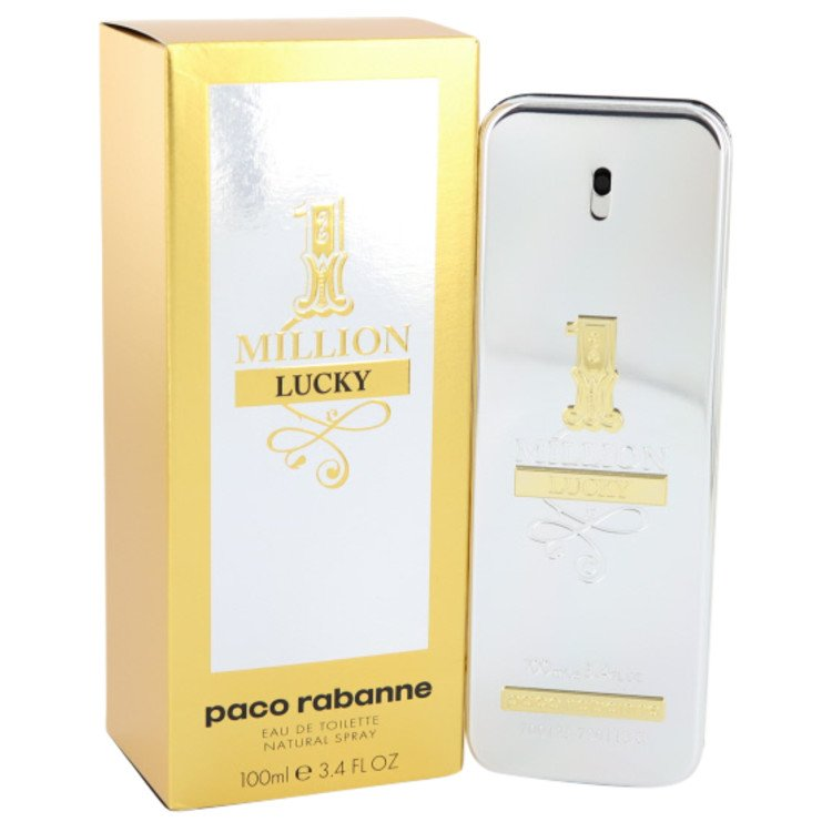 1 Million Lucky by Paco Rabanne 3.4 oz Eau De Toilette Spray for Men