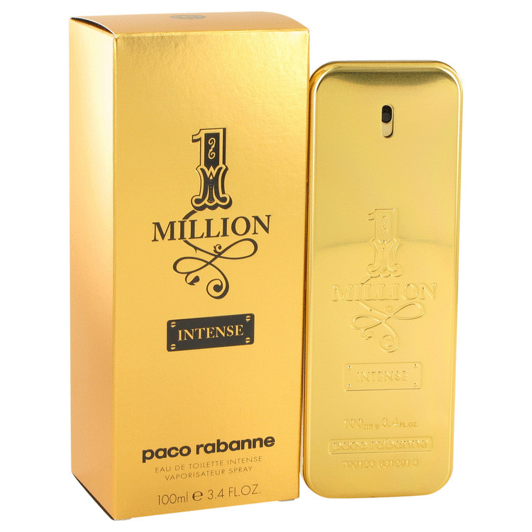 1 Million Intense by Paco Rabanne Eau De Toilette Spray 3.4 oz for Men