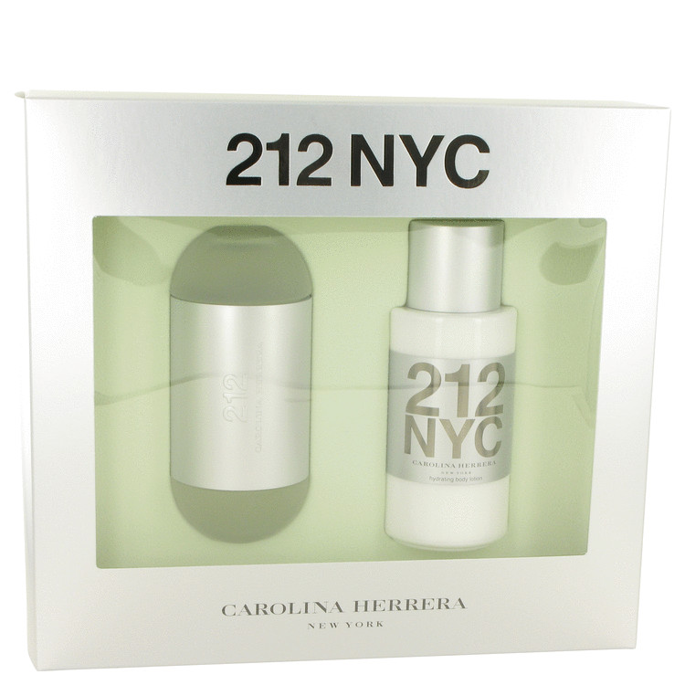 212 by Carolina Herrera Gift Set -- 3.4 oz Eau De Toilette Spray + 6.7 oz Body Lotion for Women