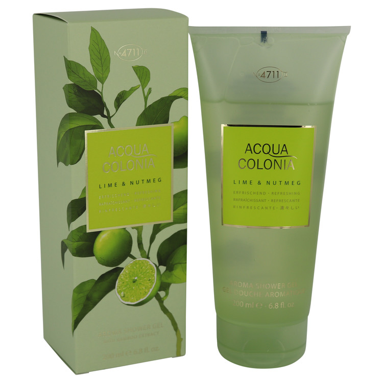 4711 Acqua Colonia Lime & Nutmeg by Maurer & Wirtz 6.8 oz Shower Gel for Women