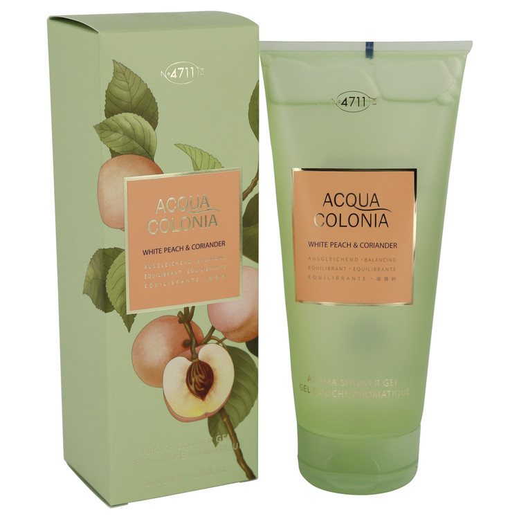 4711 Acqua Colonia White Peach & Coriander by Maurer & Wirtz 6.8 oz Shower Gel for Women