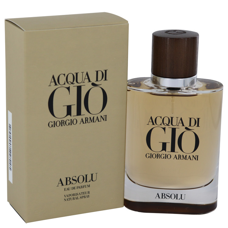 Acqua Di Gio Absolu by Giorgio Armani 2.5 oz Eau De Parfum Spray for Men