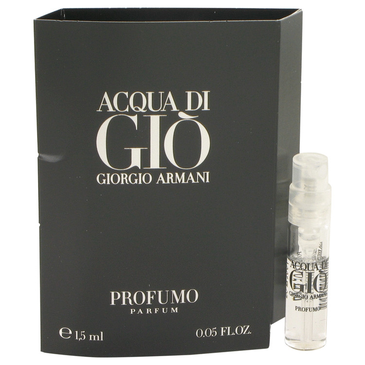 Acqua Di Gio Profumo by Giorgio Armani Vial (sample) .05 oz for Men