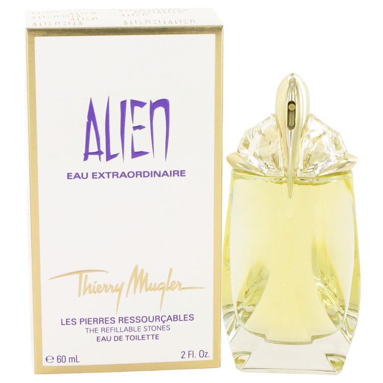 Alien Eau Extraordinaire by Thierry Mugler 2 oz Eau De Toilette Spray Refillable for Women