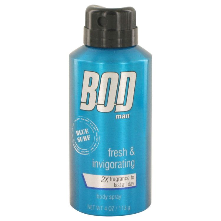 Bod Man Blue Surf by Parfums De Coeur 4 oz Body spray for Men