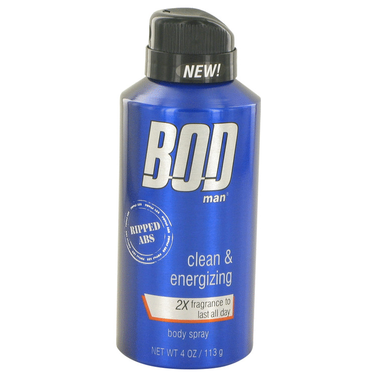 Bod Man Really Ripped Abs by Parfums De Coeur 4 oz Fragrance Body Spray for Men
