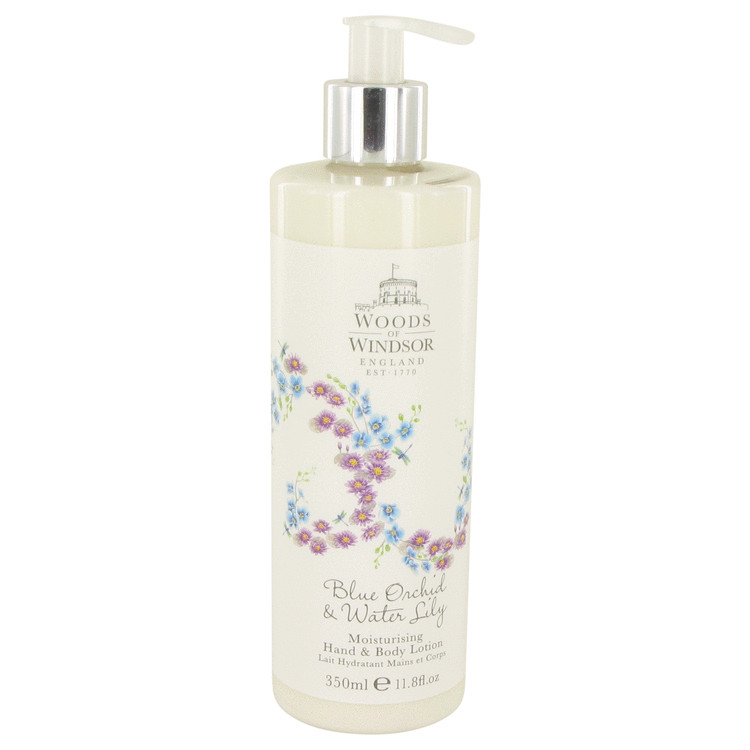 Blue Orchid & Water Lily by Woods of Windsor Body Lotion 11.8 oz for Women