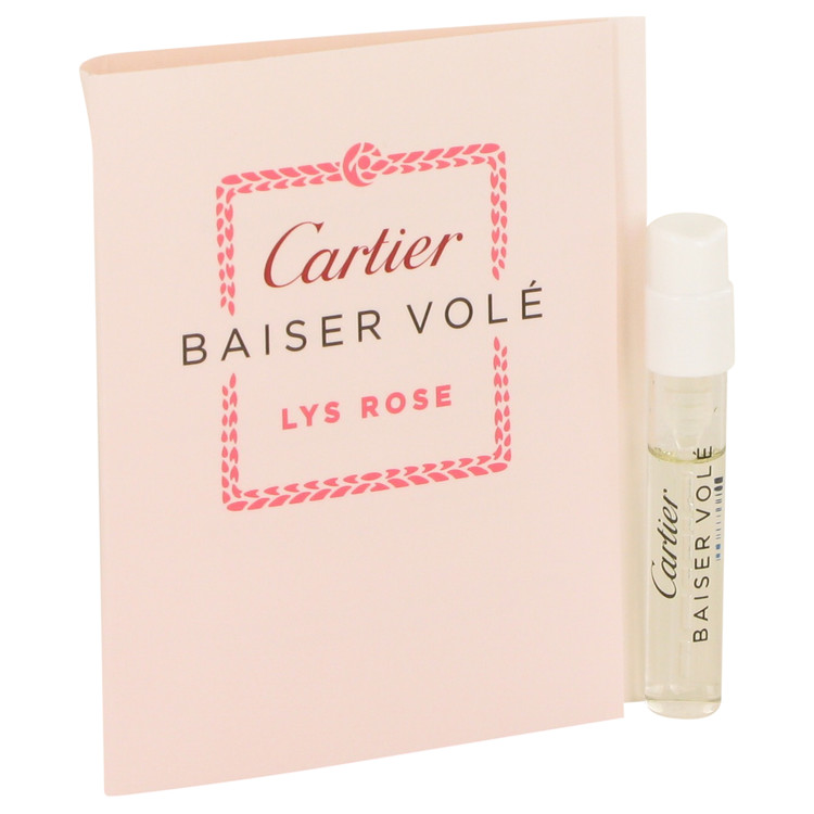 Baiser Vole Lys Rose by Cartier Vial (sample) .05 oz for Women