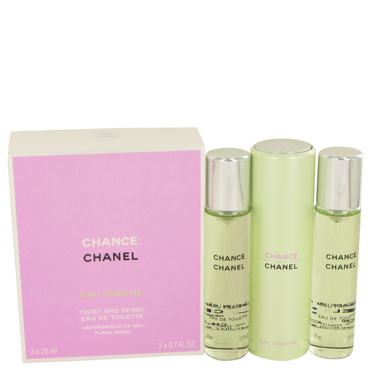 Chance by Chanel Mini Eau Fraiche Spray + 2 Refills 3 x.7 oz for Women