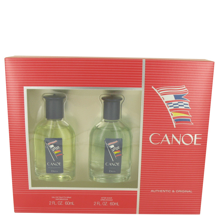 Canoe by Dana 2 oz Eau De Toilette Spray + 2 oz After Shave for Men