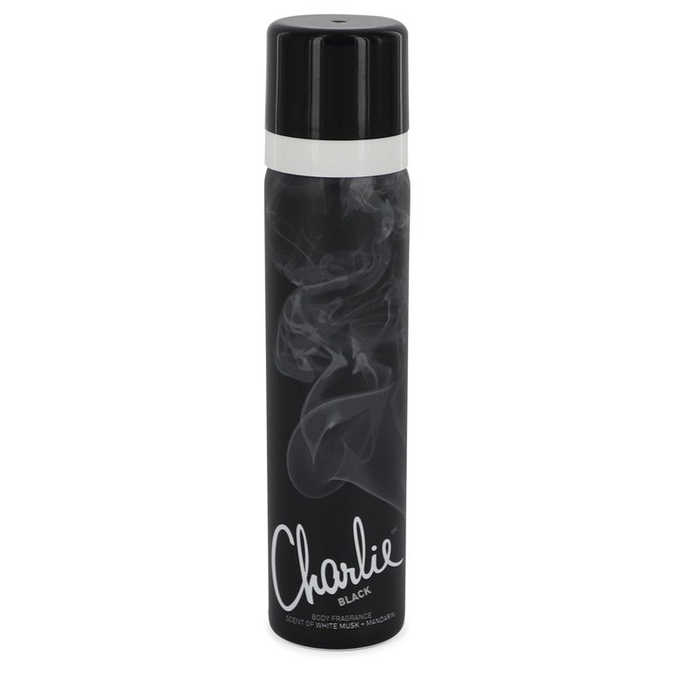 Charlie Black by Revlon 2.5 oz Body Fragrance Spray for Women