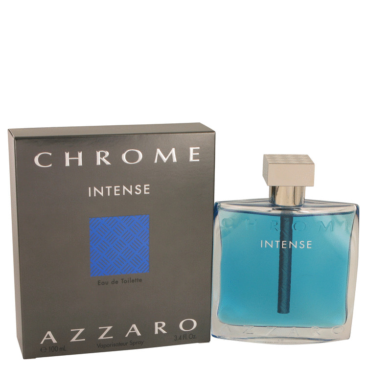 Chrome Intense by Azzaro 3.4 oz Eau De Toilette Spray for Men